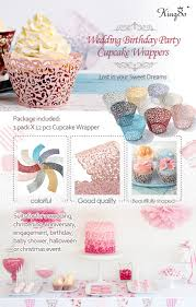 amazon com kingso 12pcs filigree vine cupcake wrappers wraps
