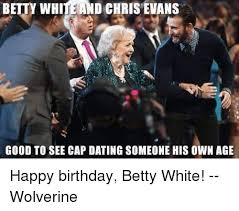 Betty White Meme - betty white and chris evans good to see cap dating someone his own