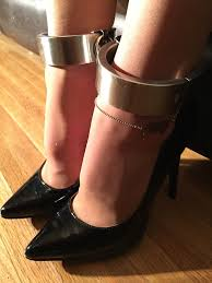 ankle cuff bracelet images Maidtowearpantyhose pantyhose shackles high heels and your png