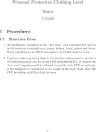 template for standard operating procedures tex latex stack