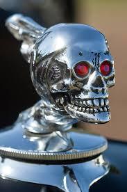 rat rod skull ornaments photograph by reger