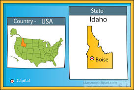 map us idaho us state maps clipart boise idaho 2 state us map with capital