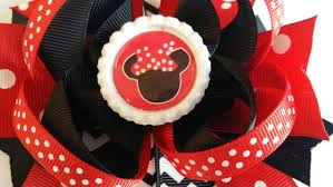 red u0026 black minnie mouse inspired hair bow e1019094703244121m