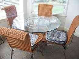 wicker dining table with glass top wicker and glass dining table table designs
