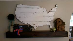 United States Map Art by Barn Wood United States Map Cutout Scroll Cut Map Shabby