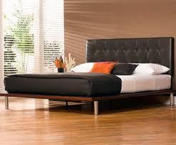 Platform Bed Headboard Mies Platform Bed Cocoa Leather Headboard Charles P Rogers