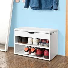 Shoe Bench Uk Sobuy Wooden Shoe Cabinet 2 Tiers Shoe Rack Shoe Storage Bench
