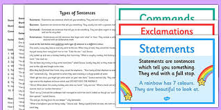 sheet types types of sentences differentiated worksheet activity sheet