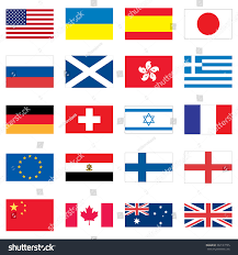Countries Of The World Flags Set 20 Flags Different Countries World Stock Illustration