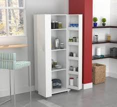 Amazoncom Inval America  Door Storage Cabinet Laricina White - Kitchen furniture storage cabinets