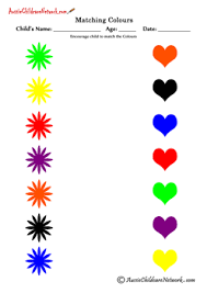 matching colors printable worksheets free printables u0026 resources