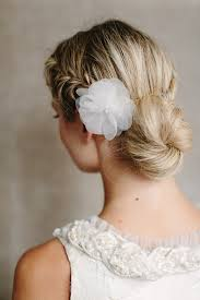 hair styles for back of romantic low braided bun updo with silk flower hairstyles weekly