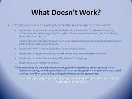 Counselling Works What Works In Psychotherapy Counselling Ppt
