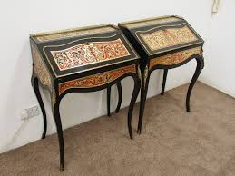 bureau boulle pair of freestanding boulle bureau de dame decorative collective