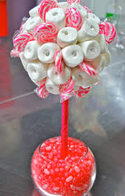 Pink And White Candy Buffet by Pink White Marshmallow Lollipop Candy Land Centerpiece Topiary