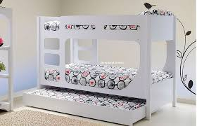 White Bunk Bed With Trundle Lolly Guest Bed Bunk Beds By - White bunk bed with drawers