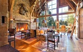 mountain home interiors rustic home interior exle of a mountain style living room