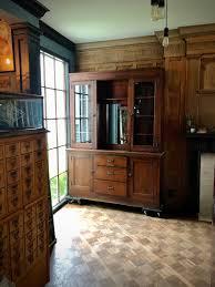 vintage glass front kitchen cabinets antique school house cabinet oak farmhouse cabinet