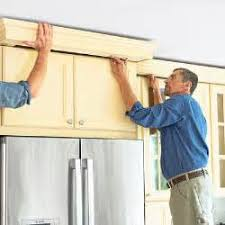 Install Crown Molding On Kitchen Cabinets Crown Installation Kitchen Cabinets Issue Precious How Install