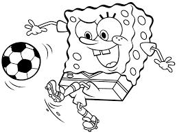 coloring page sports spongebob squarepants coloring pages 18013