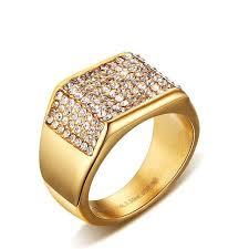fashion golden rings images Online shop fashion crystal golden rings for men multicolor jpg