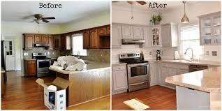kitchen surprising white painted kitchen cabinets before after