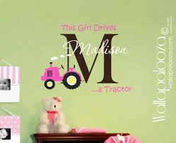 Wall Decals For Girl Nursery by Girls Tractor Wall Decal Wallapalooza Decals