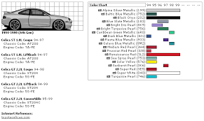 paint codes i found them 6g celicas forums