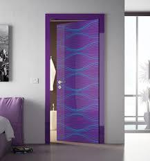 bathroom door designs interior chic purple bathroom door with decorative accents also
