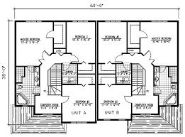 tasteful duplex house plan 90145pd architectural designs