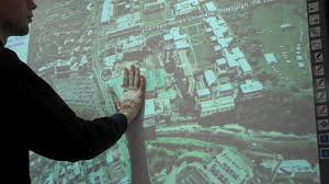 Google Wall by Google Earth On Touch Screen Wall Projector Youtube