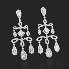 diamond chandelier earrings chandelier earrings with dazzling diamonds 6 92ct 18k