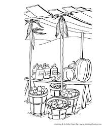 fall coloring pages kids fall harvest stand coloring page sheets