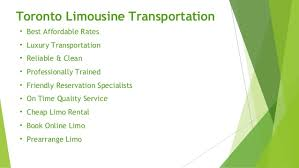 limo vacation packages tour in toronto