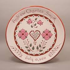 personalized wedding plate crafted personalized birth and wedding plates with