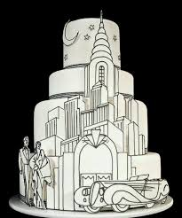 66 best art deco wedding cakes images on pinterest art deco