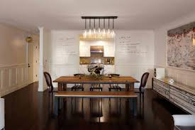 Dining Room Light A Crystal Chandelier With A Silver Silk Shade - Light fixtures for dining rooms