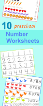 10 preschool math worksheets number recognition flashcards