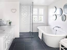 Grey And White Bathroom by Black And White Tile For Bathroom Floor Wood Floors