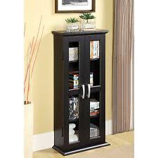 Media Storage Furniture Modern by Media Storage Cabinet With Glass Doors Wood Modern Multimedia Cd