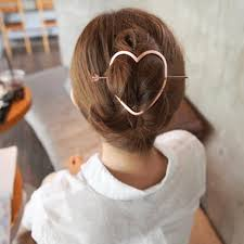 chignon tool women hair organize tool heart geometry hair stick sweet