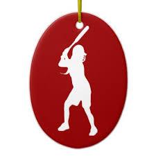 Softball Christmas Ornament - fastpitch softball catcher u0027s ornament zazzle com