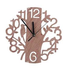 Wooden Wall Clock Creative 3d Tree Shape Wooden Wall Clock Free Shipping Worldwide