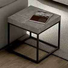 Concrete Side Table Coffee Table And Side Table Concrete Aspect And Steel