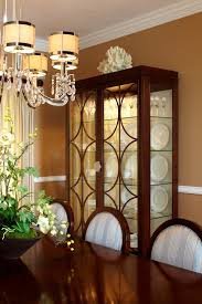 contemporary china cabinets dining room traditional with black and