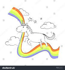 unicorn rainbow unicorn rainbow stock vector 464269307 shutterstock