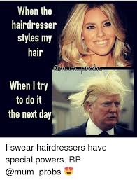 Hairdresser Meme - when the hairdresser styles my hair when try to do it the next day