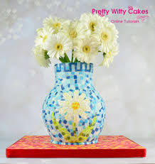 Mosiac Vase Mosaic Vase Cake Pretty Witty Cakes