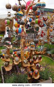 display of garden ornaments for sale stock photo royalty free