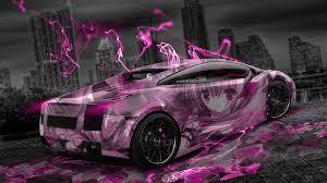 pink lamborghini gallardo lamborghini gallardo aerography city car 2014 el tony